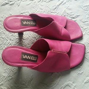 Used Vaneli pink sandals size 6